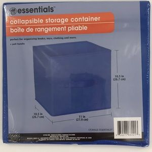 3-Pack Blue Collapsible Storage Container Organize
